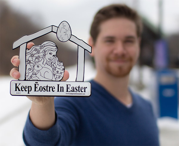 Keep Eostre in Easter Car Magnet
